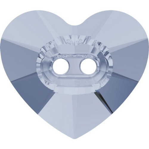 Swarovski 3023 14mm Heart Button Crystal Blue Shade ( 144 pieces)