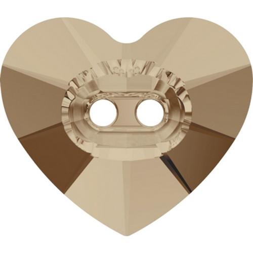 Swarovski 3023 14mm Heart Button Crystal Golden Shadow ( 144 pieces)