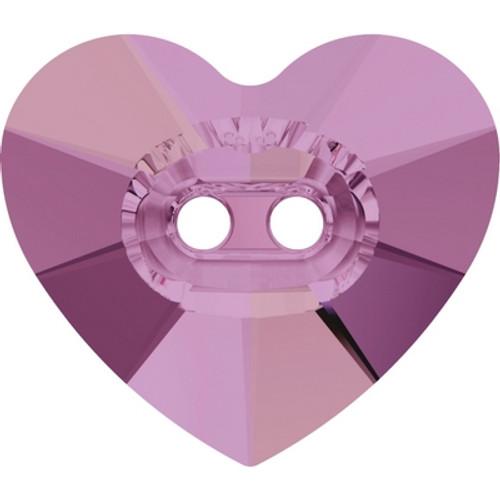 Swarovski 3023 14mm Heart Button Crystal Lilac Shadow ( 144 pieces)