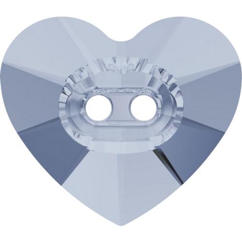 Swarovski 3023 16mm Heart Button Crystal Blue Shade ( 72 pieces)