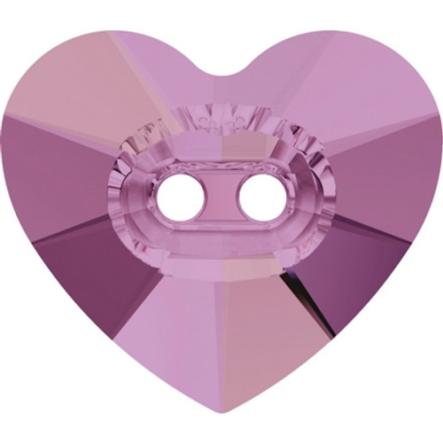 Swarovski 3023 16mm Heart Button Crystal Lilac Shadow ( 72 pieces)