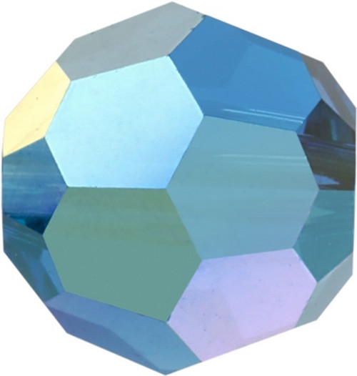 Swarovski 5000 6mm Round Beads Capri Blue AB Fully Coated  ( 360 pieces)