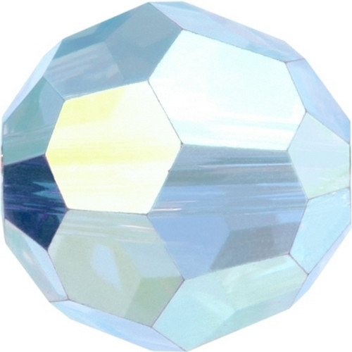 Swarovski 5000 8mm Round Beads Aquamarine AB Fully Coated  ( 288 pieces)