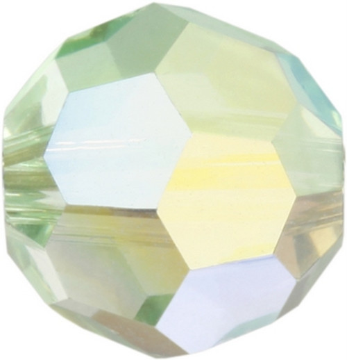 Swarovski 5000 8mm Round Beads Chrysolite AB Fully Coated  ( 288 pieces)