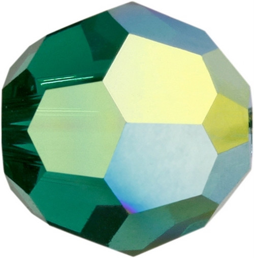 Swarovski 5000 8mm Round Beads Emerald AB Fully Coated  ( 288 pieces)