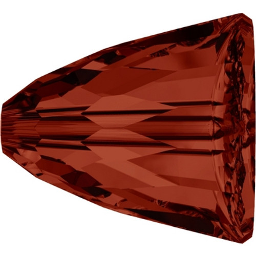 Swarovski 5541 15mm Dome Bead Large Crystal Red Magma  ( 48 pieces)