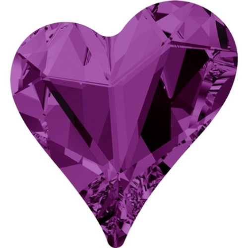 Swarovski 4809 17mm Sweet Heart Fancy Stones Amethyst ( 48 pieces)