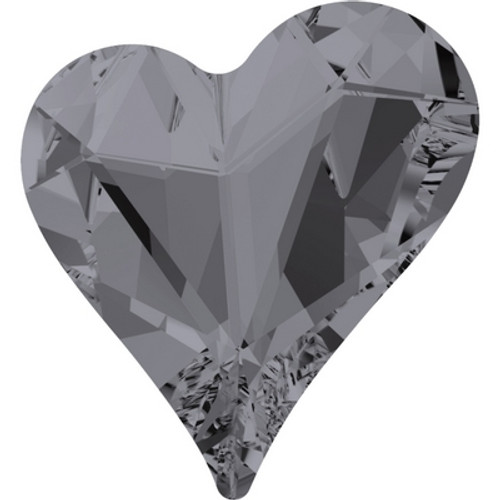 Swarovski 4809 17mm Sweet Heart Fancy Stones Crystal Silver Night ( 48 pieces)