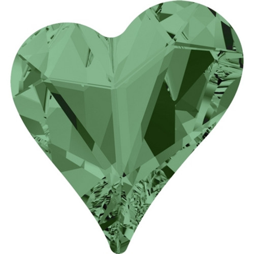 Swarovski 4809 17mm Sweet Heart Fancy Stones Erinite ( 48 pieces)