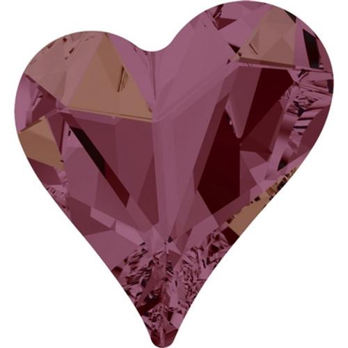 Swarovski 4809 27mm Sweet Heart Fancy Stones Crystal Lilac Shadow ( 16 pieces)