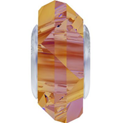 Swarovski 5929 14mm BeCharmed Fortune Bead : Crystal Astral Pink (12 pieces)