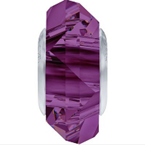 Swarovski 5929 14mm BeCharmed Fortune Bead : Amethyst (12 pieces)