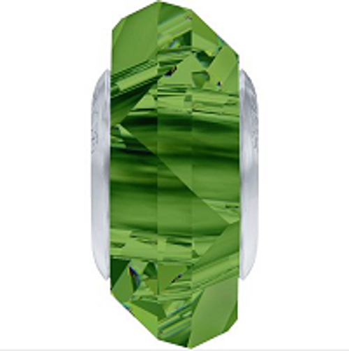 Swarovski 5929 14mm BeCharmed Fortune Bead : Dark Moss Green (12 pieces)