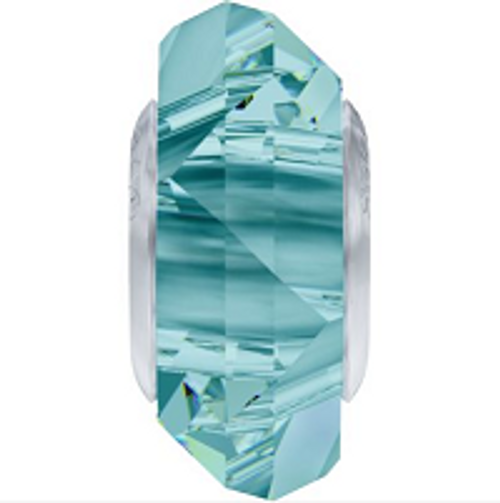 Swarovski 5929 14mm BeCharmed Fortune Bead : Light Turquoise (12 pieces)