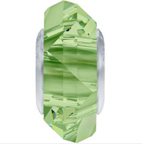 Swarovski 5929 14mm BeCharmed Fortune Bead : Peridot (12 pieces)