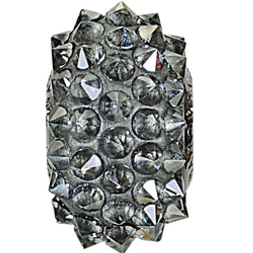 Swarovski 80401 16mm BeCharmed Pavé Spikes Beads with Crystal Silver Shade Stones on Grey base (12 pieces)