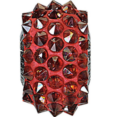 Swarovski 80401 16mm BeCharmed Pavé Spikes Beads with Crystal Red Magma Stones on Red base (12 pieces)