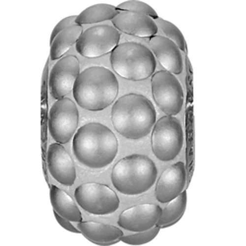 Swarovski 80501 15.5mm BeCharmed Pavé Cabochon Beads with Crystyal Chrome Matte Stones on Silver base (12 pieces)