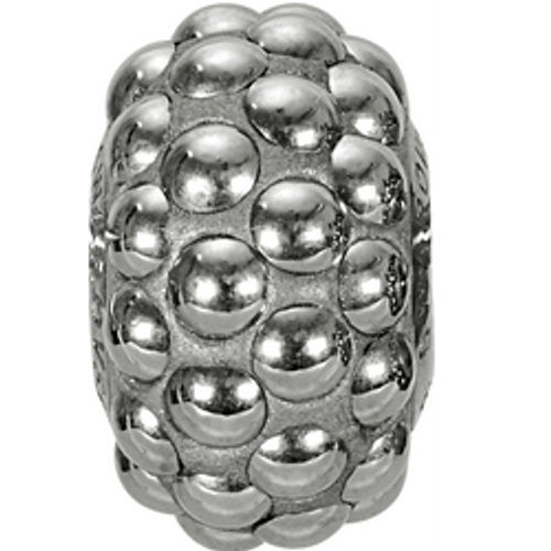 Swarovski 80501 15.5mm BeCharmed Pavé Cabochon Beads with Crystyal Chrome Stones on Grey base (12 pieces)