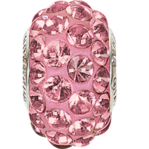 Swarovski 80501 15.5mm BeCharmed Pavé Cabochon Beads with Crystal Antique Pink Stones on Red base (12 pieces)