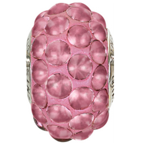 Swarovski 80501 15.5mm BeCharmed Pavé Cabochon Beads with Crystal Antique Pink Matte Stones on Antique Rose base (12 pieces)