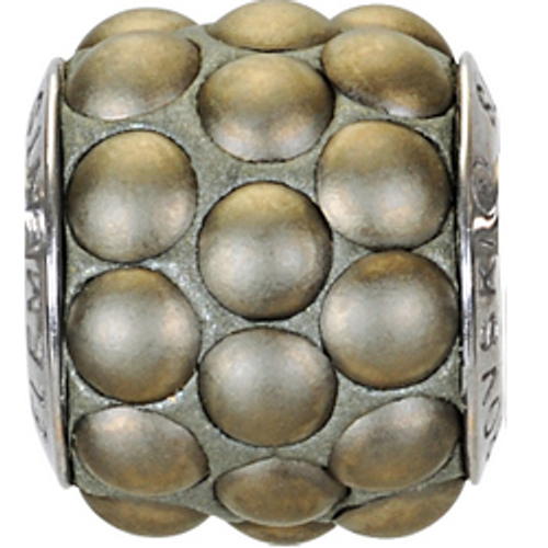 Swarovski 80601 10.5mm BeCharmed Pavé Cabochon Beads with Crystal Metallic Gold Matte Stones on  base (12 pieces)