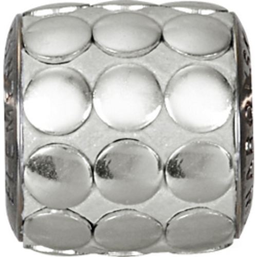 Swarovski 80701 9.5mm BeCharmed Pavé Metallics Beads with SILVER POLISHED Stones on Silver base (12 pieces)
