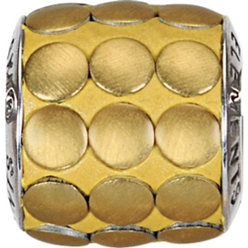 Swarovski 80701 9.5mm BeCharmed Pavé Metallics Beads with GOLD BRUSHED Stones on Shining Gold base (12 pieces)