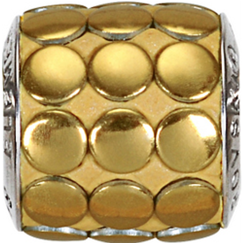 Swarovski 80701 9.5mm BeCharmed Pavé Metallics Beads with GOLD POLISHED Stones on Shining Gold base (12 pieces)