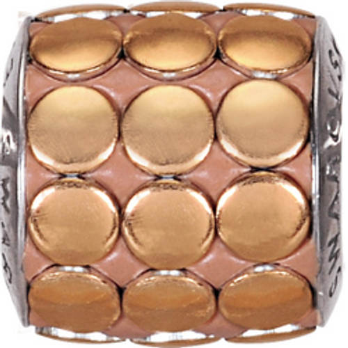 Swarovski 80701 9.5mm BeCharmed Pavé Metallics Beads with COPPER POLISHED Stones on  base (12 pieces)