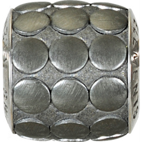 Swarovski 80701 9.5mm BeCharmed Pavé Metallics Beads with GUN METAL BRUSHED Stones on Anthracite base (12 pieces)