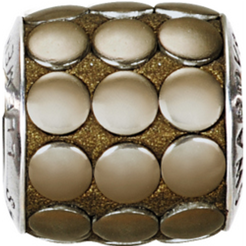 Swarovski 80701 9.5mm BeCharmed Pavé Metallics Beads with BRONZE POLISHED Stones on Bronze base (12 pieces)