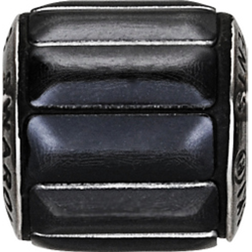 Swarovski 80801 9.5mm BeCharmed Pavé Metallics Beads with BLACK POLISHED Stones on Black base (12 pieces)