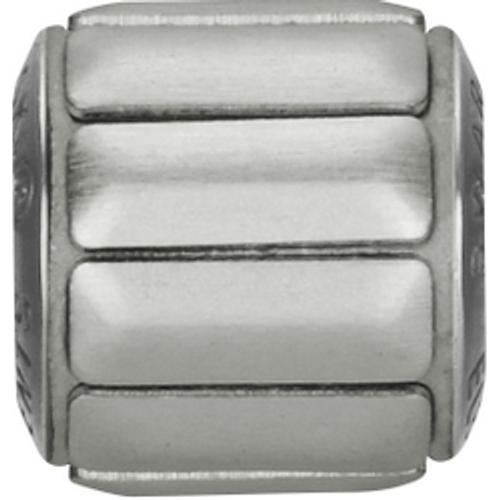 Swarovski 80801 9.5mm BeCharmed Pavé Metallics Beads with SILVER BRUSHED Stones on Silver base (12 pieces)