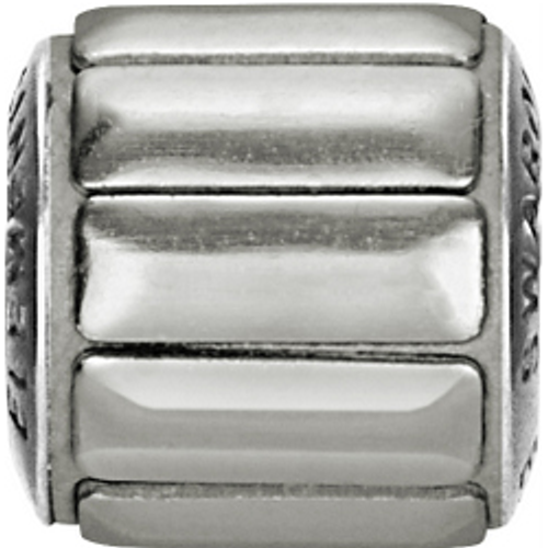 Swarovski 80801 9.5mm BeCharmed Pavé Metallics Beads with SILVER POLISHED Stones on Silver base (12 pieces)
