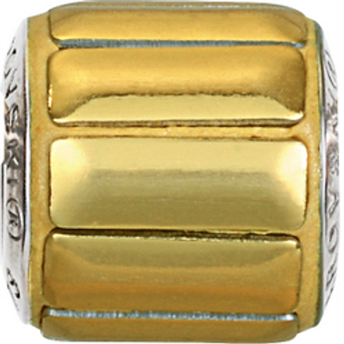 Swarovski 80801 9.5mm BeCharmed Pavé Metallics Beads with GOLD POLISHED Stones on Shining Gold base (12 pieces)