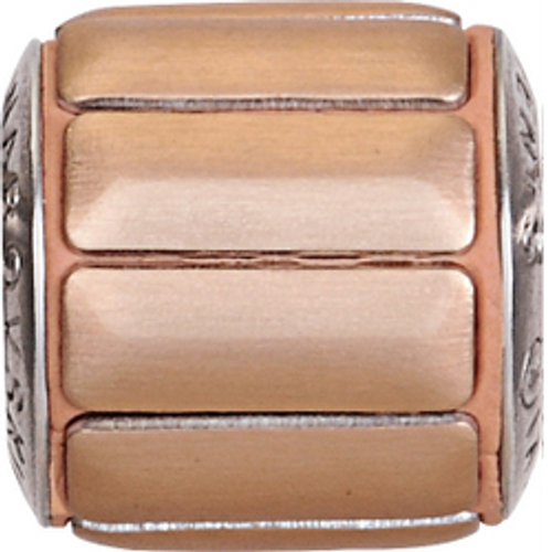 Swarovski 80801 9.5mm BeCharmed Pavé Metallics Beads with COPPER BRUSHED Stones on  base (12 pieces)