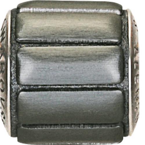 Swarovski 80801 9.5mm BeCharmed Pavé Metallics Beads with GUN METAL BRUSHED Stones on Anthracite base (12 pieces)