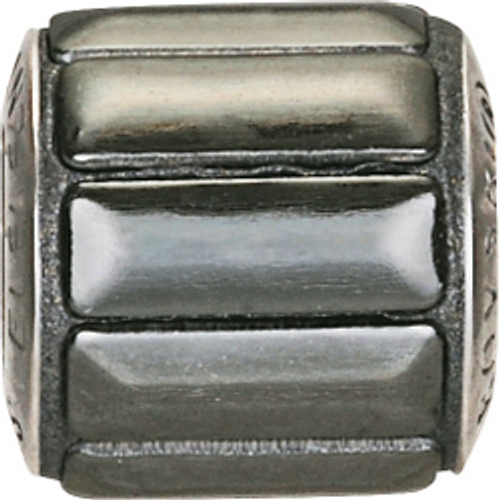 Swarovski 80801 9.5mm BeCharmed Pavé Metallics Beads with GUN METAL POLISHED Stones on Anthracite base (12 pieces)