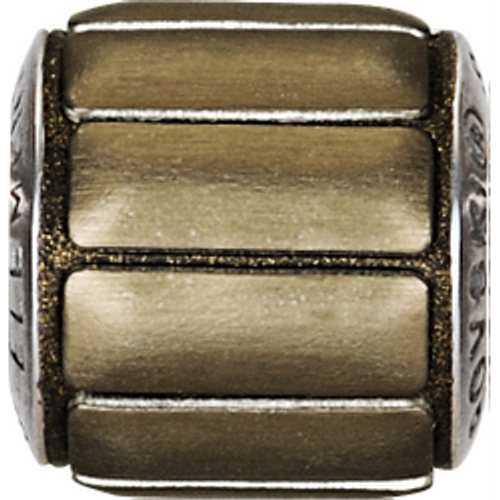 Swarovski 80801 9.5mm BeCharmed Pavé Metallics Beads with BRONZE BRUSHED Stones on Bronze base (12 pieces)