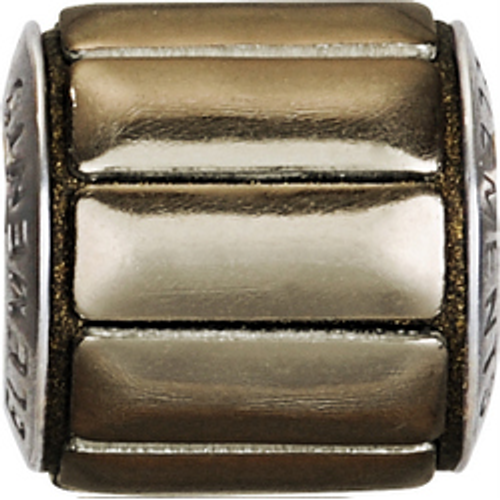 Swarovski 80801 9.5mm BeCharmed Pavé Metallics Beads with BRONZE POLISHED Stones on Bronze base (12 pieces)
