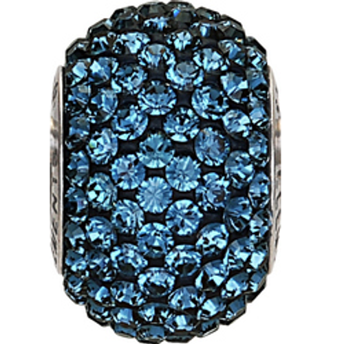 Swarovski 80101 14mm BeCharmed Pavé Beads with Montana Chatons on Navy Blue base (12 pieces)