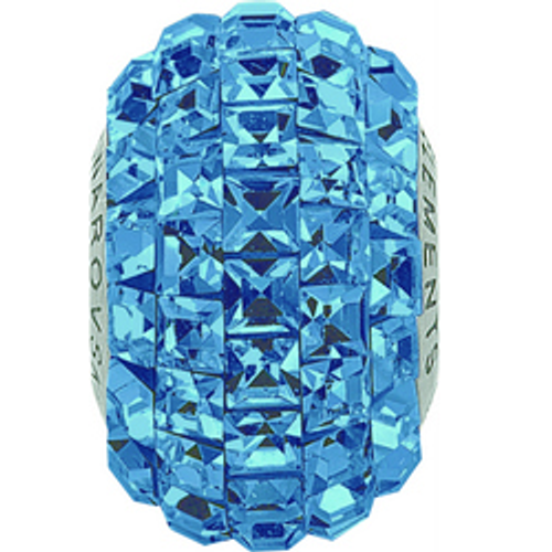 Swarovski 80201 15mm BeCharmed Pavé Beads with Montana Square Fancy stones on Navy Blue base (12 pieces)