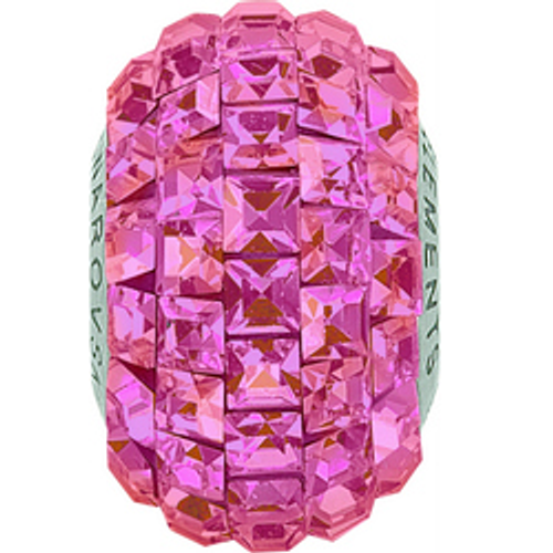 Swarovski 80201 15mm BeCharmed Pavé Beads with Crystal Lilac Shadow Square Fancy stones on Burgundy base (12 pieces)