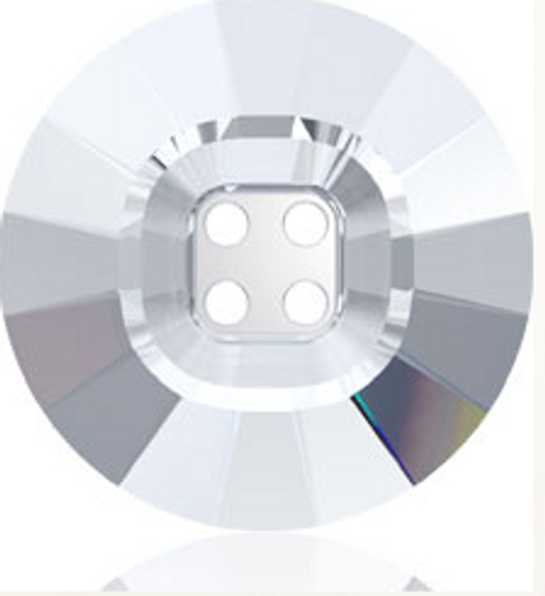 Swarovski 3018 18mm Rivoli Crystal Button Crystal Silver Night (24 pieces)