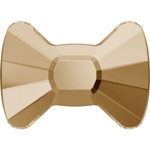 Swarovski 2858 9mm Bow Tie Flatback Crystal Golden Shadow (144 pieces)