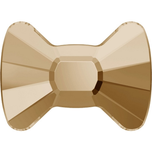 Swarovski 2858 9mm Bow Tie Flatback Crystal Golden Shadow Hot Fix (144 pieces)