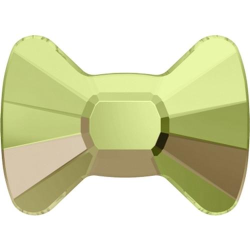 Swarovski 2858 9mm Bow Tie Flatback Crystal Luminous Green Hot Fix (144 pieces)
