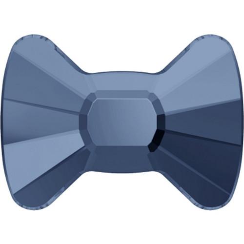 Swarovski 2858 9mm Bow Tie Flatback Denim Blue Hot Fix (144 pieces)