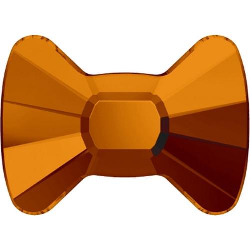 Swarovski 2858 12mm Bow Tie Flatback Tangerine Hot Fix (96 pieces)